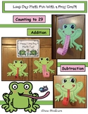 Leap Day Math Fun With a Frog Craft (Counting, Addition &