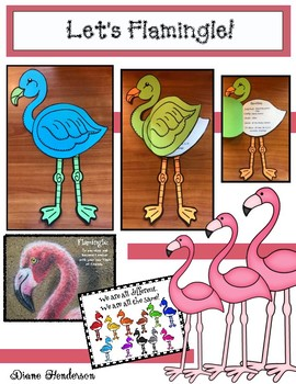 """Let's Flamingle!"" A Writing Prompt Icebreaker Craft for Back to School"