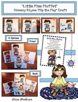 """""""Little Miss Muffet"""" Nursery Rhyme Craft"""