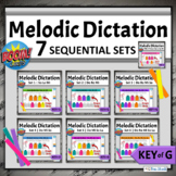 Music Boom Cards Sequential Music Literacy BUNDLE   Melodic Dictation Key of G