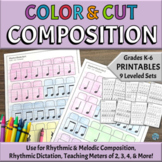 Music Composition Activities | Printable Color, Cut, Compo