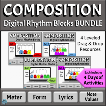 Music Composition Activities BUNDLE | Distance Learning - PowerPoint