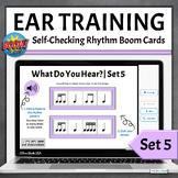 Music Distance Learning | Boom Cards Rhythm Pattern Identi