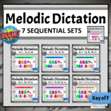 Music Distance Learning Games   Melodic Dictation Sequential BUNDLE - Key of F