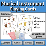 Musical Instruments Families | Playing Cards