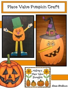 Place Value Activities With a Pumpkin Craft. Awesome Bulletin Board Too!