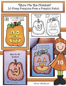 """Pumpkin Activities: """"Show Me the Number!"""" Booklet & Posters"""