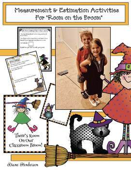 Room on the Broom Measurement Activities! Great For Halloween Party Day