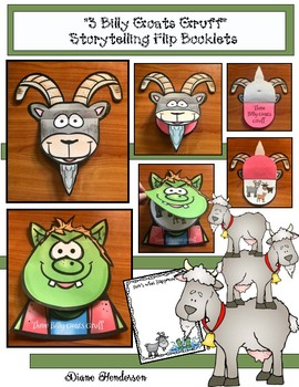"""Sequencing & Retelling """"3 Billy Goats Gruff"""" Flip-Up Booklet"""