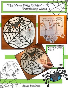 """""""The Very Busy Spider"""" Sequencing & Retelling Craft"""