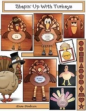 """""""Shapin' Up With Turkeys!"""" 2D Shape Craftivities"""