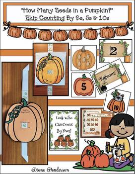 """Pumpkin Skip Counting Activities With """"How Many Seeds in a Pumpkin?"""" Story"""
