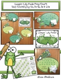 """Skip Counting: """"Leapin' Lily Pads"""" Frog Craft Perfect for"""