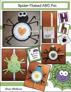 Spider Activities: Upper & Lowercase Alphabet Fun With a Spider Theme