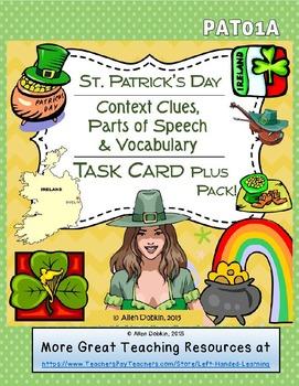40% Off! St Patrick's Day Bundle - Task Cards, Quiz, Homew