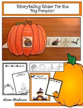 """Pumpkin Activities/Halloween Activities: """"Big Pumpkin"""" Storytelling Slider Craft"""