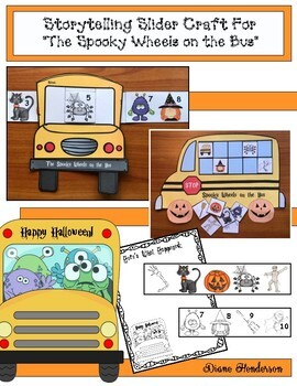 """Storytelling Slider Craft For """"The Spooky Wheels on the Bus"""""""
