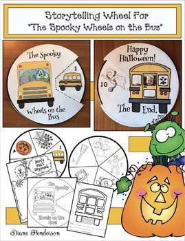 "Halloween Activities: ""The Spooky Wheels on the Bus"" Storytelling Craft Wheel"