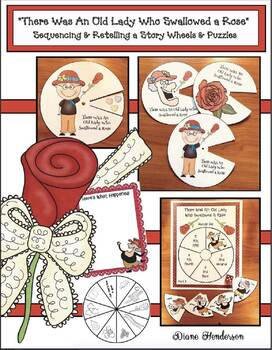 """There Was An Old Lady Who Swallowed A Rose"" Storytelling Wheels & Puzzles"