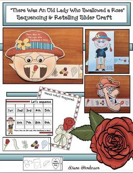 There Was an Old Lady Who Swallowed a Rose: Sequence & Retell Slider Craft