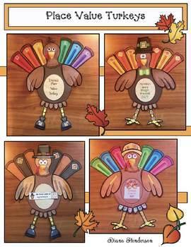 Turkey Activities: Place Value Turkey Craft