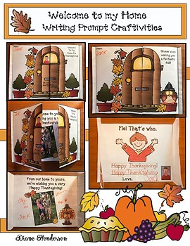 """""""Welcome To My Home!"""" Writing Prompt Craftivities"""