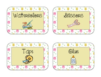 40 Owl Themed Classroom Supply Labels