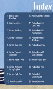40 Partner Yoga Poses For Kids By Kids Yoga Stories Tpt