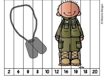 40 Patriotic Number Order & Skip Counting Puzzles
