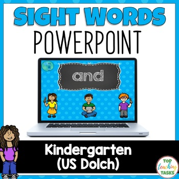 PreK Sight Word Dolch Powerpoint Presentation 40 Words