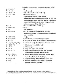 40 Puzzles,Edgar Allan Poe, Mark Twain.Curriculum Director