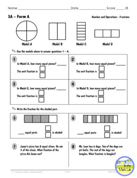 Math Assessments 3rd Grade - ALL Standards