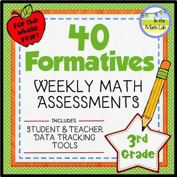 Math Assessments 3rd Grade - ALL Standards