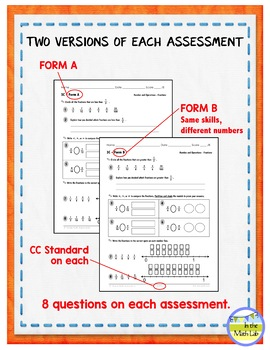 4th Grade Math Assessments - ALL Common Core Standards