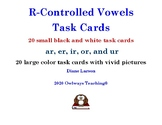 40 R-Controlled Vowels Task Cards, ur sounds with ar, er,