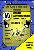 40 Reading Comprehensions Using Lyrics Book 1 - Mr A, Mr C