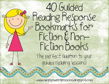 40 Reading Response Bookmarks for Any Book