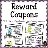 40 Ready-to-Use Classroom Reward Coupons... Hipster Monster Themed!