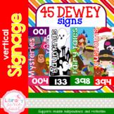Dewey Decimal Signage - Vertical