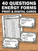 Forms of Energy Activities, Physical Science Review Activity