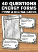 Movement Forms & Sources of Energy Task Cards Physical Sci