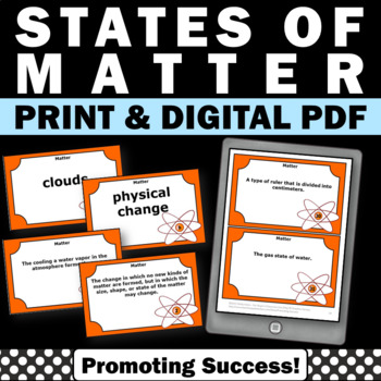 States of Matter Activities, Science Task Cards, Solid Liquid Gas
