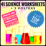 Back to School Science Worksheets and Posters