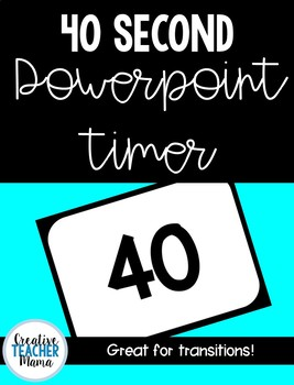40 Second Timer for PowerPoint!
