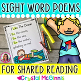 40 Sight Word Poems for Shared Reading (For Beginning Readers) Distance Learning