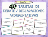 40 Spanish Debate Cards: Defend, Challenge, Qualify