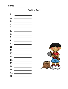 40 Spelling Test Forms