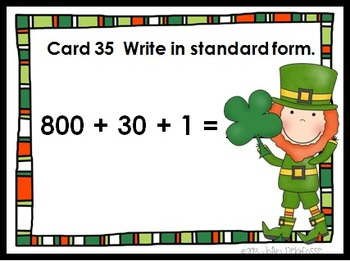 SCOOT Place Value Task Cards w/ St. Patrick's Day theme  - meets common core