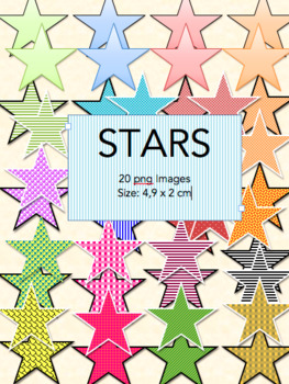 40 Stars - Digital clip art png files – graphics – icon - commercial use