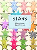 40 Stars - Digital clip art png files – graphics – icon -